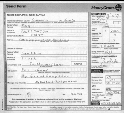 how to send a money order